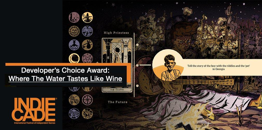 Where The Water Tastes Like Wine wins Developers Choice Award at IndieCade17