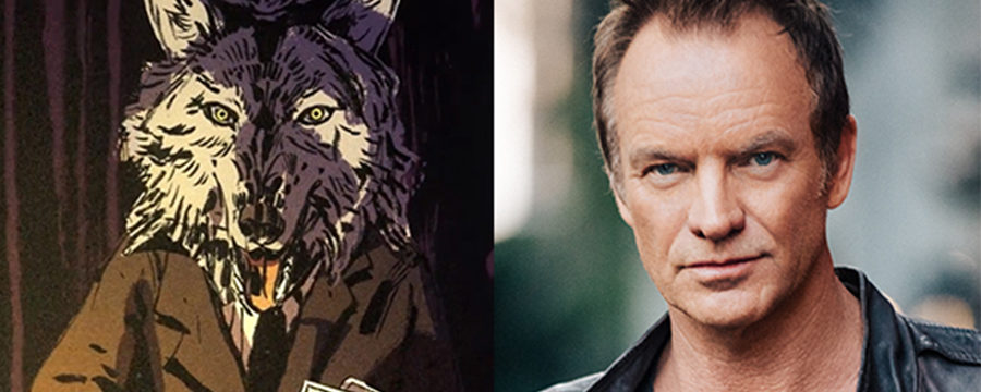 Sting announced at a voice actor in Where The Water Tastes Like Wine
